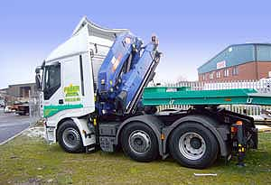 Beland crane lorry conversion